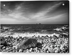 Rocky Shore Acrylic Print by Chris Thaxter