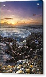 Rocky Shore Acrylic Print by Debra and Dave Vanderlaan