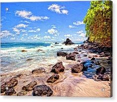 Rocky Shoreline Acrylic Print by Dominic Piperata