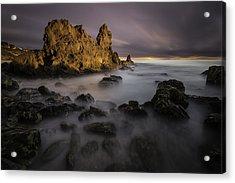 Rocky Southern California Beach 6 Acrylic Print by Larry Marshall