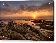 Rocky Sunset Acrylic Print by Peter Tellone