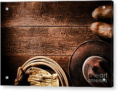 Rodeo Background Acrylic Print by Olivier Le Queinec