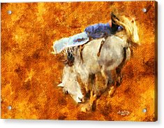 Eight-second Ride Acrylic Print by Greg Collins