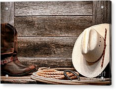 Rodeo Still Life Acrylic Print by Olivier Le Queinec