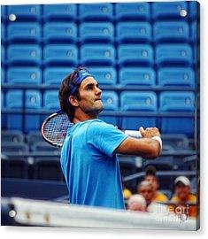 Roger Federer  Acrylic Print by Nishanth Gopinathan