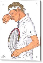 Roger Federer Acrylic Print by Steven White