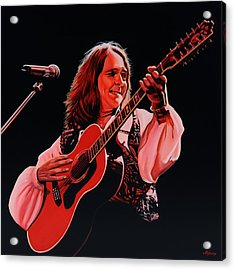 Roger Hodgson Of Supertramp Acrylic Print by Paul Meijering