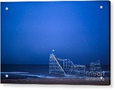 Roller Coaster Stars Acrylic Print by Michael Ver Sprill