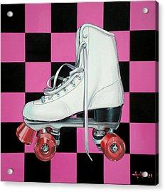Roller Skate Acrylic Print by Anthony Mezza