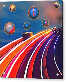 Rollerball Acrylic Print by Wendy J St Christopher