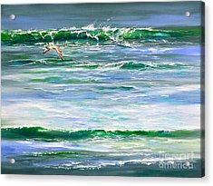 Rolling Green Acrylic Print by AnnaJo Vahle