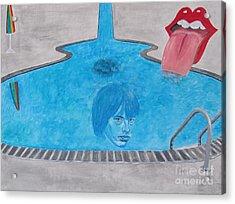 Rolling Stones Brian Jones Acrylic Print by Jeepee Aero