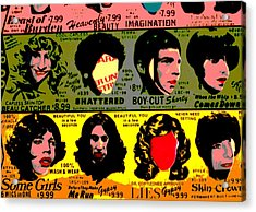 Rolling Stones Pop Art Acrylic Print by Dan Sproul