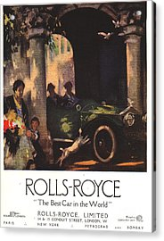 Rolls-royce 1917 1910s Uk  Cars Acrylic Print by The Advertising Archives