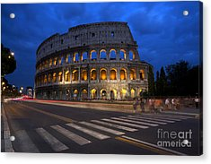 Roma Di Notte - Rome By Night Acrylic Print by Marco Crupi