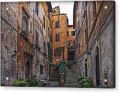 Roman Backyard Acrylic Print by Hanny Heim