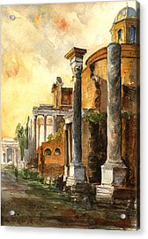 Roman Forum Acrylic Print by Juan  Bosco