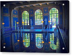 Roman Pool Reflection Hearst Castle Acrylic Print by Heidi Smith