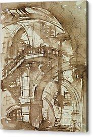 Roman Prison Acrylic Print by Giovanni Battista Piranesi