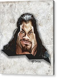 Roman Reigns Caricature By Gbs Acrylic Print by Anibal Diaz