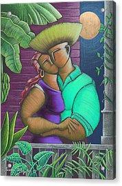 Romance Jibaro Acrylic Print by Oscar Ortiz
