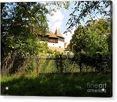 Romanian Fortified Church Acrylic Print by Ramona Matei