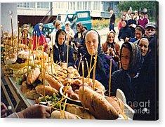 Romanians Celebrating Transfiguration Acrylic Print by Sarah Loft
