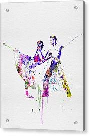 Romantic Ballet Watercolor 2 Acrylic Print by Naxart Studio