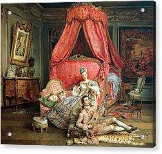 Romantic Scene Acrylic Print by Ignacio De Leon y Escosura