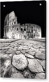 Rome Colloseum Acrylic Print by Nina Papiorek