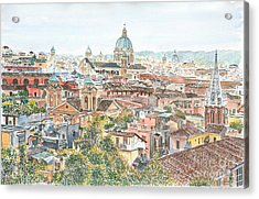 Rome Overview From The Borghese Gardens Acrylic Print by Anthony Butera