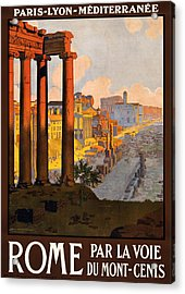 Rome Par La Voie Du Mont-cenis Acrylic Print by Georgia Fowler