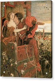Romeo And Juliet Acrylic Print by Ford Madox Brown