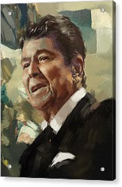 Ronald Reagan Portrait 5 Acrylic Print by Corporate Art Task Force