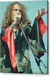 Ronnie James Dio Of Black Sabbath During 1980 Heaven And Hell Tour-2nd New Photo  Acrylic Print by Daniel Larsen