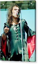 Ronnie James Dio Of Black Sabbath During 1980 Heaven And Hell Tour  Acrylic Print by Daniel Larsen
