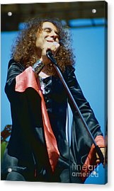 Ronnie James Dio Of Black Sabbath During 1980 Heaven And Hell Tour-new Photo  Acrylic Print by Daniel Larsen