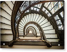 Rookery Building Oriel Staircase Acrylic Print by Anthony Doudt