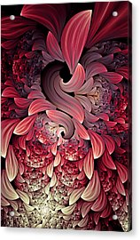 Rooster Abstract Acrylic Print by Georgiana Romanovna