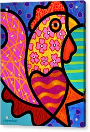 Rooster Dance Acrylic Print by Steven Scott