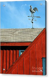 Rooster Weathervane Acrylic Print by Sabrina L Ryan
