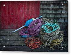 Ropes And Buoy Acrylic Print by Darylann Leonard Photography