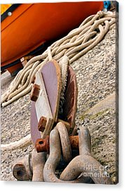 Ropes And Chains Acrylic Print by Terri Waters
