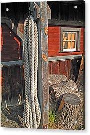 Ropes And Woods Acrylic Print by Barbara McDevitt