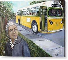 Rosa Parks Acrylic Print by Reb Frost