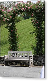 Rose Arch At Longwood Gardens Acrylic Print by Vadim Levin