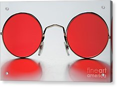 Rose Colored Glasses Acrylic Print by Dan Holm