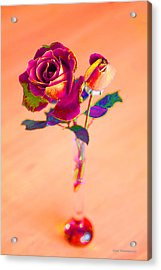 Rose For Love - Metaphysical Energy Art Print Acrylic Print by Alex Khomoutov