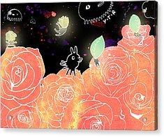 Rose Garden  Acrylic Print by Yoyo Zhao