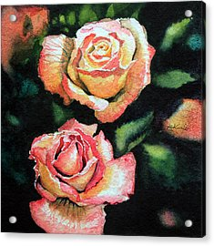 Roses I Acrylic Print by Hanne Lore Koehler